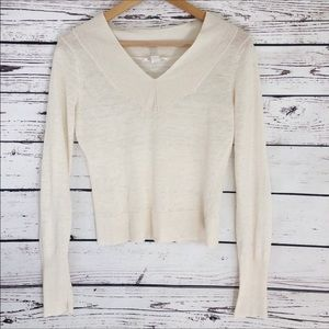 Alice + Olivia Lightweight Cream Sweater Top